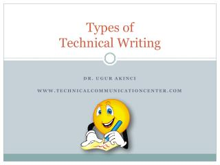 Types of  Technical Writing