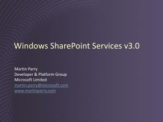 Windows SharePoint Services v3.0