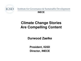 INECE Climate Change Stories Are Compelling Content