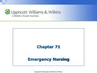 Chapter 71 Emergency Nursing