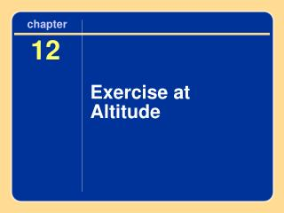 Exercise at Altitude