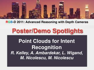 Point Clouds for Intent Recognition