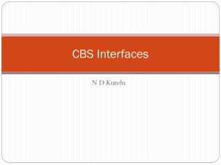 CBS Interfaces