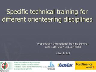 Specific technical training for different orienteering disciplines
