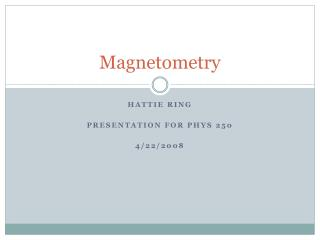 Magnetometry