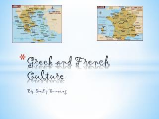 Greek and French Culture