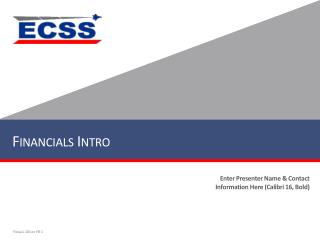 Financials Intro
