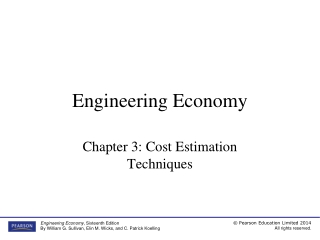Chapter 3  Cost Estimation