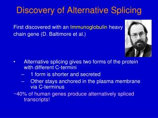 Discovery of Alternative Splicing