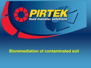 Bioremediation of contaminated soil
