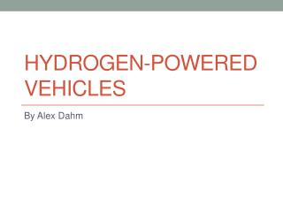 Hydrogen-Powered Vehicles