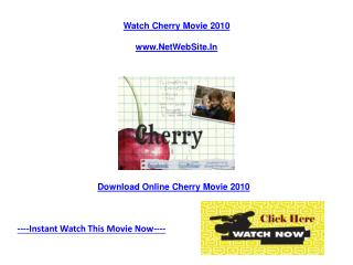 Cherry Movie Free Online Review