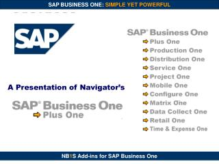 SAP Business One Affordable Power for Small & Midsize Businesses