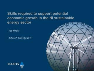 Skills required to support potential economic growth in the NI sustainable energy sector
