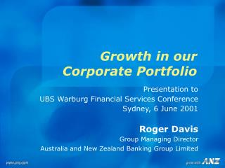 Growth in our  Corporate Portfolio