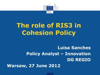The role of RIS3 in Cohesion Policy