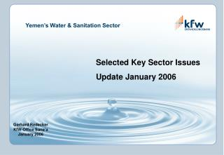Yemen's Water & Sanitation Sector