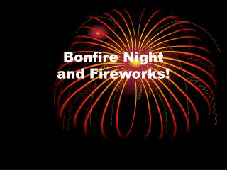 Bonfire Night  and Fireworks!