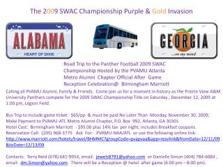 The 2 00 9 SWAC Championship Purple &  Gold  Invasion