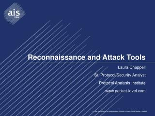 Reconnaissance and Attack Tools
