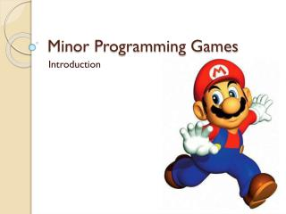 Minor Programming Games