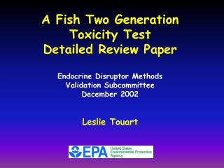 A Fish Two Generation  Toxicity Test  Detailed Review Paper Endocrine Disruptor Methods