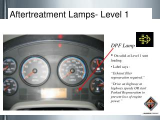 Aftertreatment Lamps- Level 1