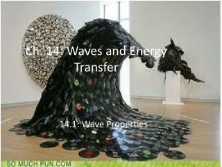 Ch. 14: Waves and Energy Transfer