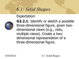 6.1: Solid Shapes