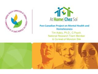 Pan-Canadian Project on Mental Health and Homelessness