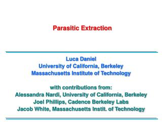 Parasitic Extraction