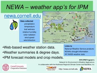 NEWA – weather app's for IPM
