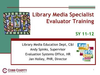 Library Media Specialist  Evaluator Training SY  11-12