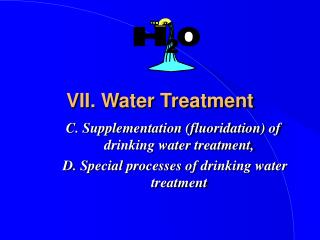 VII. Water Treatment