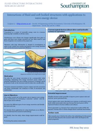 Interactions of fluid and soft bodied structures with applications to wave energy device