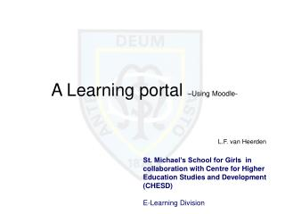A Learning portal  –Using Moodle-