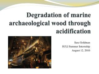 Degradation of marine archaeological wood through acidification