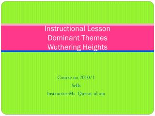 Instructional Lesson Dominant Themes Wuthering Heights