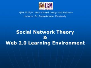 QIM 501E/4  Instructional Design and Delivery