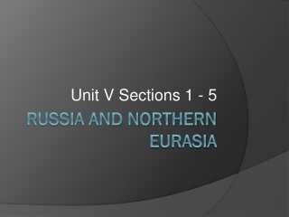 Chapter 16 Russia and the Eurasian Republics Today