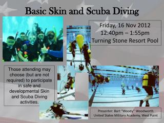 Basic Skin and Scuba Diving