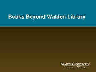 Books Beyond Walden Library