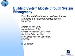 Building System Models through System Ethnography