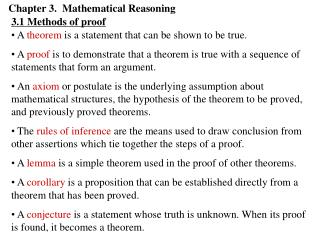 Chapter 3.  Mathematical Reasoning