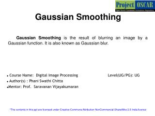 Gaussian Smoothing