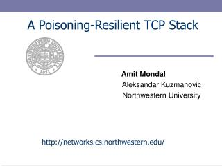 A Poisoning-Resilient TCP Stack