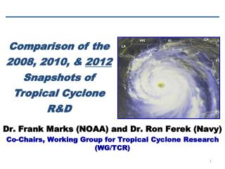 Comparison of the 2008, 2010, &  2012  Snapshots of Tropical Cyclone R&D