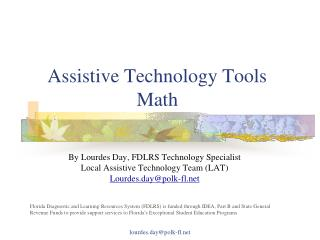 Assistive Technology Tools  Math