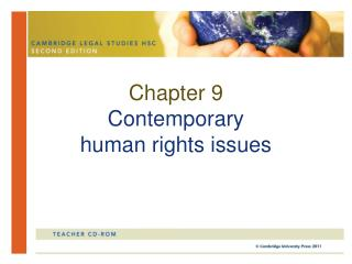 Chapter 9 Contemporary  human rights issues