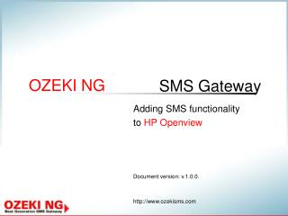 Adding SMS functionality to  HP Openview